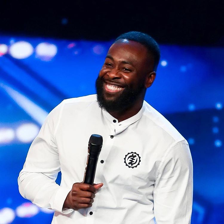 Photo of Kojo Anim on stage at Britain Got Talent 2019